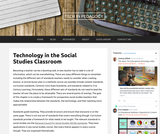 Technology in the Social Studies Classroom