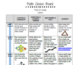 Math Choice Boards: PreK-1st Grade (Summer Edition)
