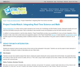 Project FeederWatch: Integrating Real-Time Science and Math