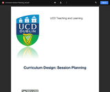 Curriculum-Session Planning