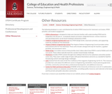 University of Arkansas: STEM Resourcess