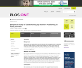 Empirical Study of Data Sharing by Authors Publishing in PLoS Journals