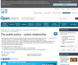 the Public Policy - Action Relationship