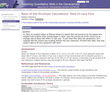 Back of the Envelope Calculations: Rate of Lava Flow