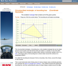 Circumscribed rectangle, bounding box. (Coordinate Geometry)
