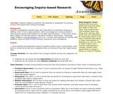Encouraging Inquiry-Based Research