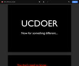 Welcome to UCDOER.ie