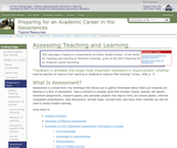 Assessing Teaching and Learning