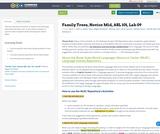 Family Trees, Novice Mid, ASL 101, Lab 09