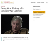 Doing Oral History with Vietnam War Veterans