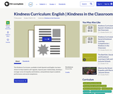Kindness Curriculum: English