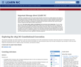 Exploring the 1835 Nc Constitutional Convention