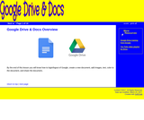 Overview of Google Drive & Docs
