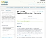 Job Ads and Applicants: Elementary Discussion