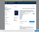 Quantitative Research Methods for Political Science, Public Policy and Public Administration for Undergraduates: 1st Edition With Applications in R