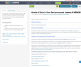 Grade 1: Unit 2- Our Environment: Lesson 5 REMIX