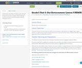Grade 1: Unit 2- Our Environment: Lesson 5 REMIX