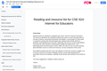 CSE 624: Internet for Educators Reading & Resource List