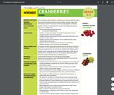 Health Literacy: Grade 2-3 Lesson, Cranberries