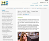 "Get a ""SMART"" Start - Tools to Help Students Succeed Online"