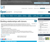 Building Relationships With Donors