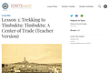 Lesson 3: Trekking to Timbuktu: Timbuktu: A Center of Trade (Teacher Version)