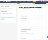 Website Writing Checklist —Elementary