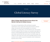 Global Literacy Survey