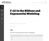 In the Billions and Exponential Modeling