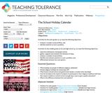 The School Holiday Calendar
