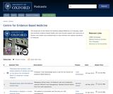Centre for Evidence Based Medicine Series