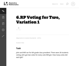 Voting for Two, Variation 1