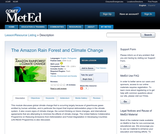 The Amazon Rain Forest and Climate Change