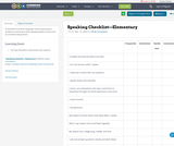 Speaking Checklist—Elementary