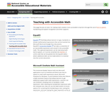 Teaching with Accessible Math