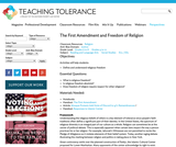 The First Amendment and Freedom of Religion