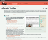 Research on Adjustable Text Size