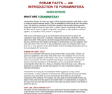 Foram Facts- An Introduction to Foraminifera