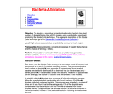 Bacteria Allocation