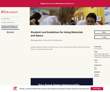 Student-Led Guidelines for Using Materials and Space