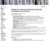 Einführung in die Korpuslinguistik: Praktische Grundlagen und Werkzeuge