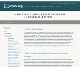 Global Perspectives on Industrialization