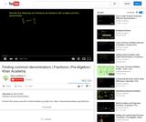 Arithmetic and Pre-Algebra: Finding Common Denominators