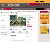 Groundwater Hydrology, Fall 2005