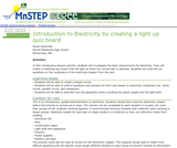 Introduction to Electricity by Creating a Light Up Quiz Board