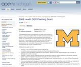 2008 Health OER Planning Grant