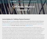 Physical Chemistry I