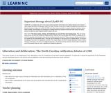 Liberation and Deliberation: the North Carolina Ratification Debates of 1788