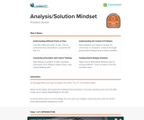 21st Century Skills: Analysis/Solution Mindset