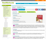 Plot Kindergarten Unit Lesson 1: Retelling a Story